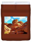 Eroded Red Sandstone Duvet Cover
