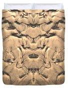 Golden Tidal Sands Duvet Cover