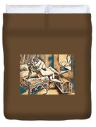 Erotic Abstract Four Duvet Cover