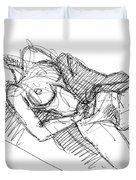 Erotic Art Drawings 7 Duvet Cover