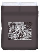 Erotic Drawing Three Duvet Cover