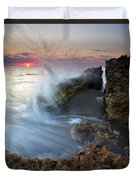 Eruption At Dawn Duvet Cover