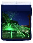 Eruption Of Green Waters, Sofia Duvet Cover