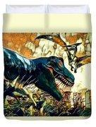 Escape From Jurassic Park Duvet Cover