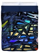 Escape Of The Blue-headed Capricorn From The Labyrinths Of Darkness Duvet Cover