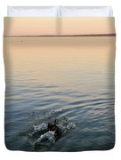 Escaping Geese  Duvet Cover