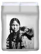 Eskimo Woman And Child Duvet Cover