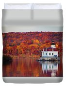 Esopus Lighthouse In Late Fall #1 Duvet Cover