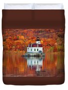 Esopus Lighthouse In Late Fall #3 Duvet Cover