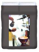 Espresso Expresso Italian Coffee Cup With Machine  Duvet Cover