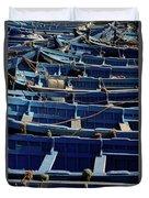 Essaouira Blue Boats Duvet Cover