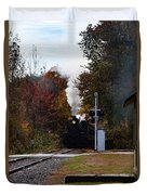 Essex Steam Train Coming Into Fall Colors Duvet Cover