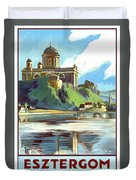 Esztergom, Beautiful City On Danube River, Hungary,  Duvet Cover