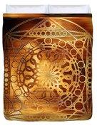 Eternity Mandala Golden Zebrawood Duvet Cover