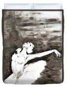 Ethereal Black And White Ballerina Poster 4  - By Diana Van Duvet Cover