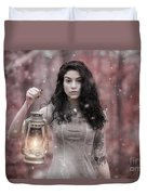 Ethereal Snow Beauty Duvet Cover
