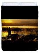Ethiopia Catching Live-bait At Sundown On Lake Chamo Duvet Cover