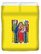 Ethiopian Mary And Jesus Duvet Cover