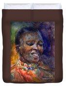 Ethnic Woman Portrait Duvet Cover