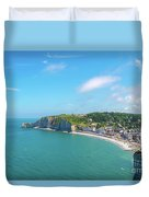 Etretat From Above, France Duvet Cover