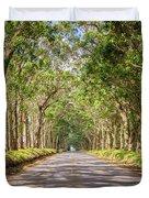 Eucalyptus Tree Tunnel - Kauai Hawaii Duvet Cover