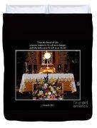 Eucharist I Am The Bread Of Life Duvet Cover