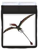 Eudimorphodon On White Duvet Cover