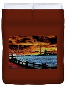Eugene Talmadge Memorial Bridge And The Serious Politics Of Necessary Change No. 1 Duvet Cover