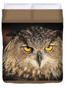 Eurasian Eagle Owl Portrait Duvet Cover