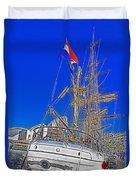 Europa Docks In Sydney Duvet Cover