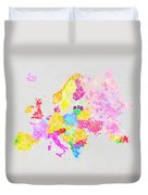 Europe Map Duvet Cover by Setsiri Silapasuwanchai