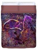 European Brown Bear Suckle  Duvet Cover