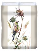 European Goldfinch In The Field Duvet Cover