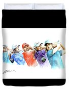 European Golf Champions Race 2017 Duvet Cover