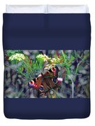 European Peacock Butterfly Duvet Cover