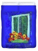 European Window Box Duvet Cover