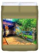 Evanston Grafitti Art. Duvet Cover