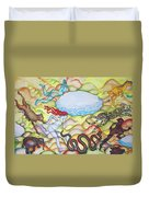 Eve Being Chased Out Of The Garden Of Eden Duvet Cover