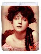 Evelyn On Aquarell Duvet Cover