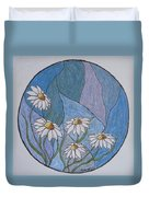 Even Daisies Get The Blues Duvet Cover