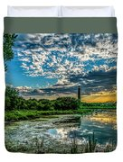 Evening Approaching Cape May Light Duvet Cover