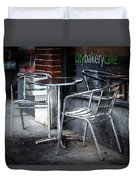 Evening At A Sidewalk Cafe Duvet Cover