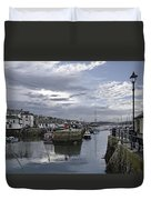 Evening At Custom House Quay - Falmouth Duvet Cover