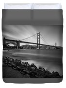 Evening At Golden Gate Bridge Duvet Cover