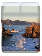 Evening At Land's End Duvet Cover
