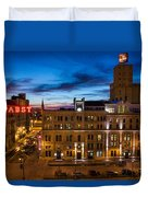 Evening At Pabst Duvet Cover