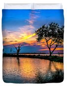 Evening At Riverwinds Duvet Cover