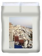 Evening At Santorini Duvet Cover