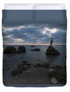 Evening At Sidna Ali Beach 3 Duvet Cover