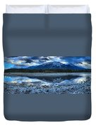 Evening At The Athabasca River Duvet Cover